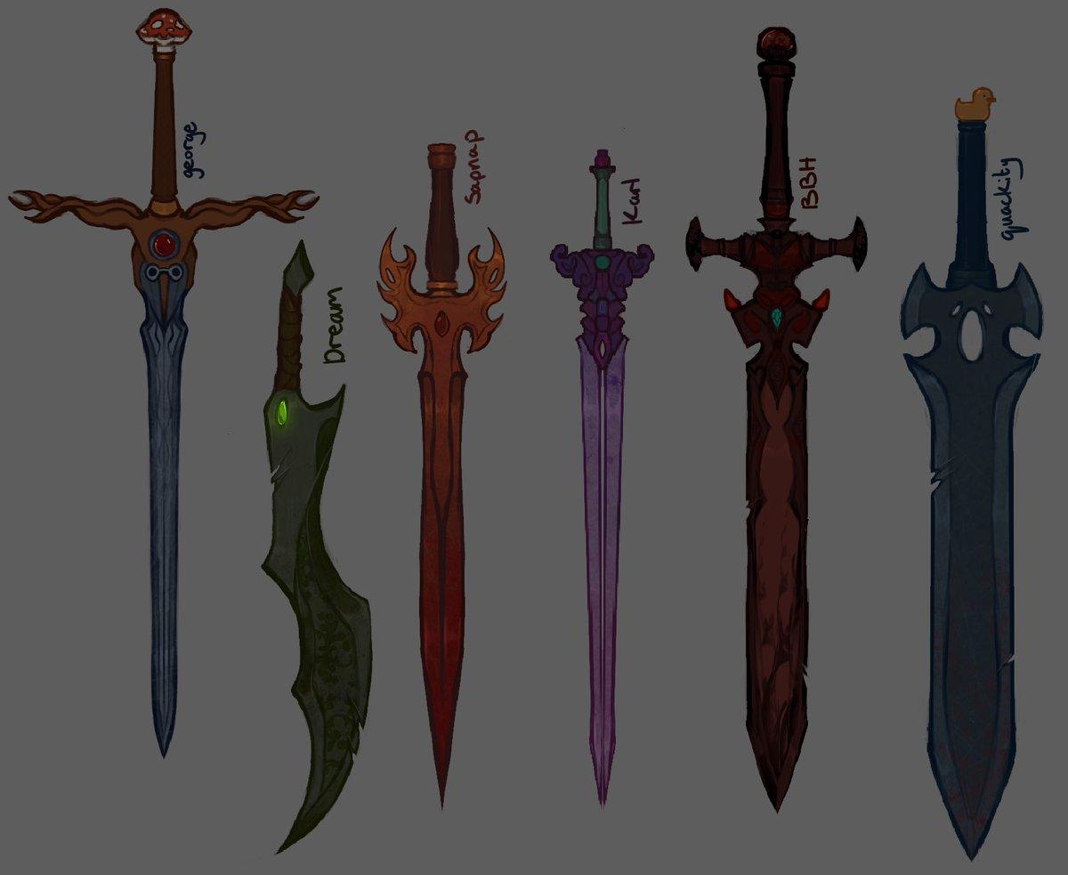 RT @ageekyartist: Here take my sword designs 🤚✨✨ #fanart #dreamsmpfanart https://t.co/UEELic6DKe