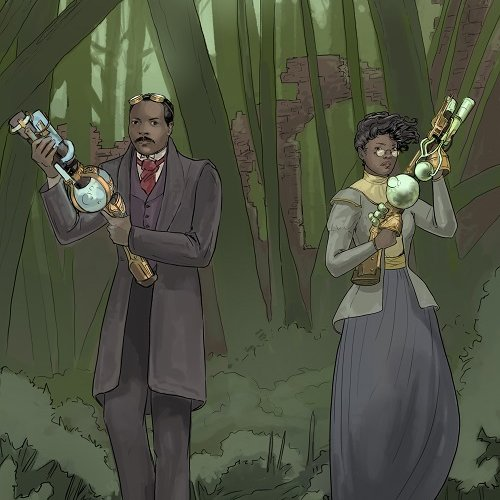 We have a new reward tier - The Special Commission Portrait! Five lucky people can have themselves drawn in with Granville and Alma in the steampunk costume of your choice! #steampunk #GraphicNovel #kickstarter #alternatehistory https://t.co/SrzPbIFARU