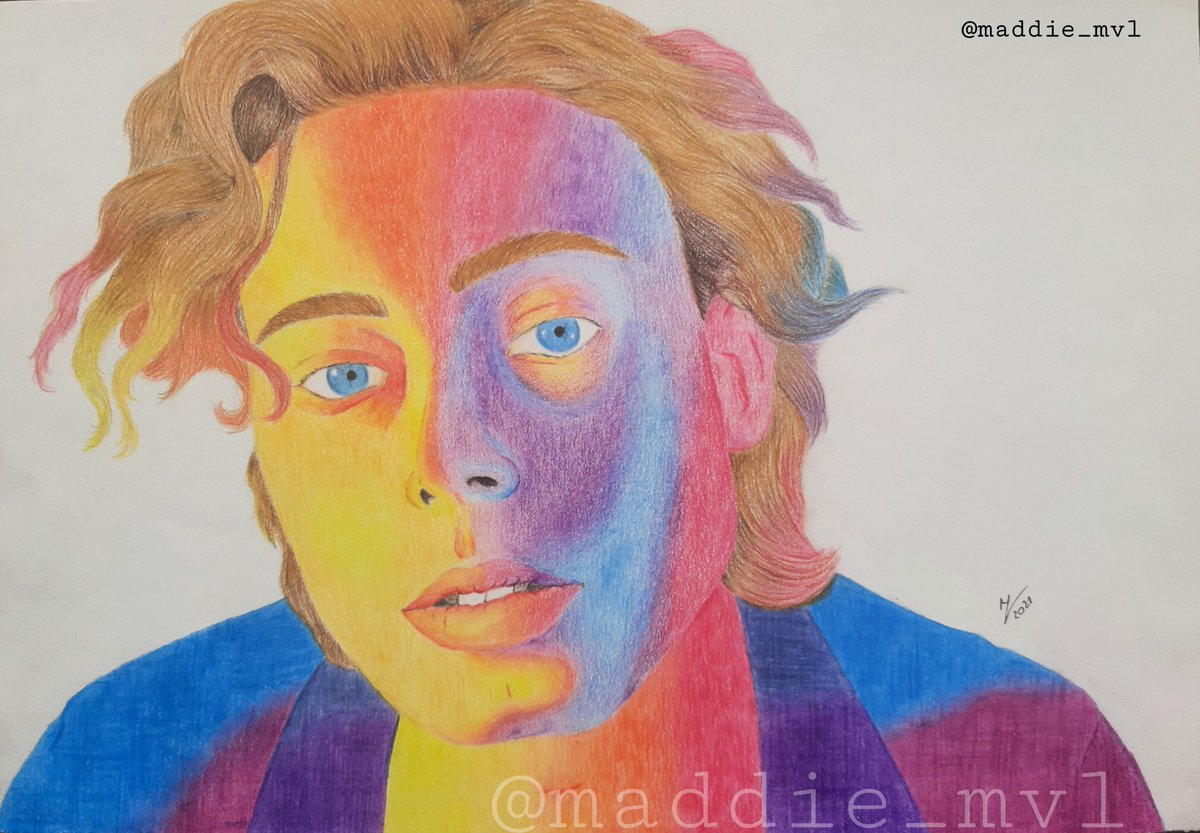 🌹YOUNGBLOOD🌹  Drawing of Luke Hemmings, based on the song Youngblood   So proud of this song and how much it achieved ❤ #3YearsOfYoungblood