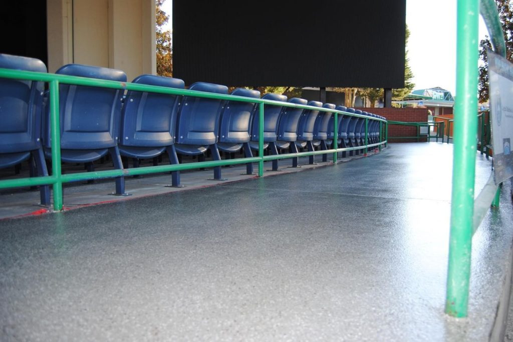 SHOWROOM SPACE FLOOR COATING - Our coating systems will completely transform your venue floors while providing durability and added safety. VIEW PAST PROJECTS...  #floorcoatings #remodeling #renovation #venues #concerthalls #theaters