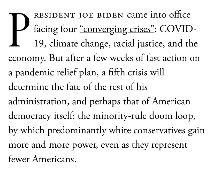 For @TheAtlantic, I wrote about how we're facing a doom loop of minority rule by white conservatives and the next two years may be our last chance to avoid slipping into it forever. Our leaders must treat this as the crisis that it is and act with urgency. https://t.co/yryxbjNWLR https://t.co/WkOPEOc7Wz