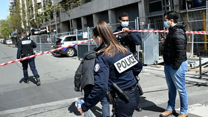 A shooter is on the run in Paris after killing one and injuring another outside a hospital Photo