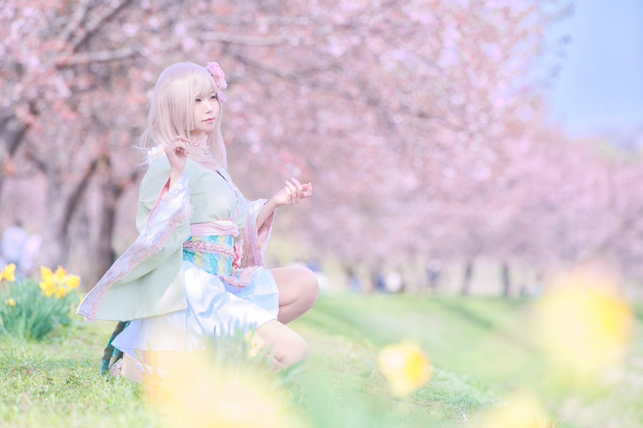 画像,🌸🌸🌸それはきっと四月に現れる桜の精。創作photo by @photo_jma https://t.co/Ki26AbFiWz…