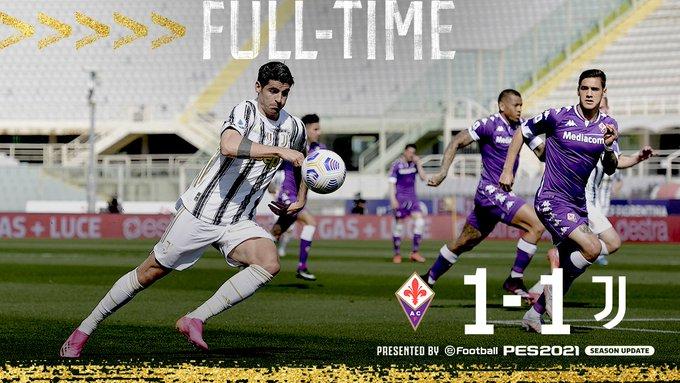Hasil akhir Fiorentina 1-1 Juventus