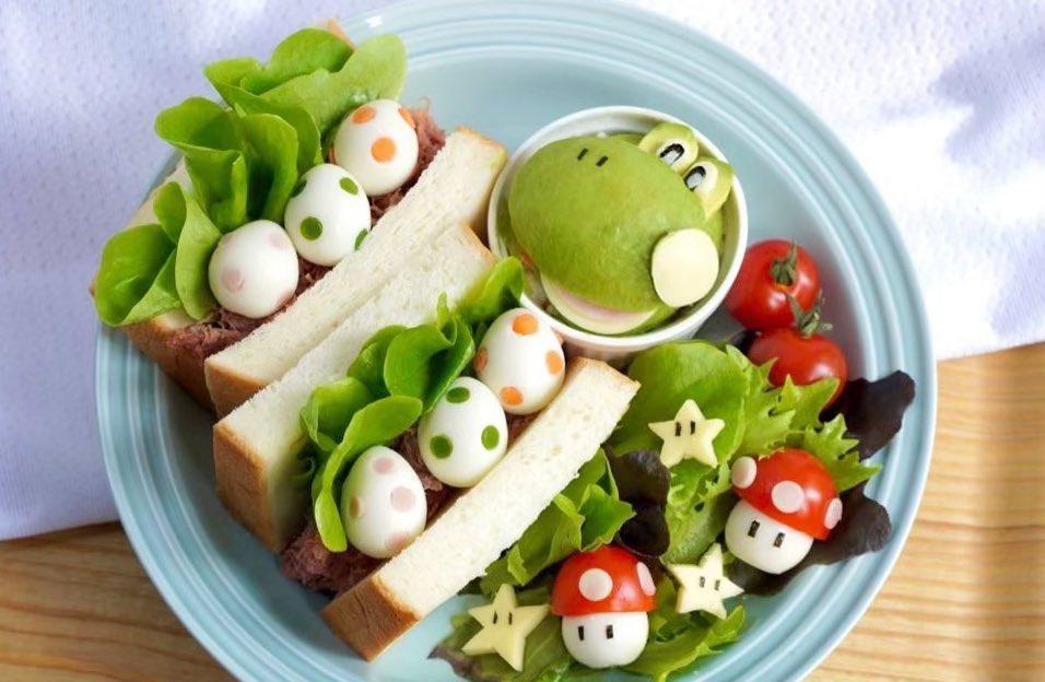 ヨッシーの卵が可愛い!卵サンドプレートがクオリティ高すぎて真似したいという声多数!