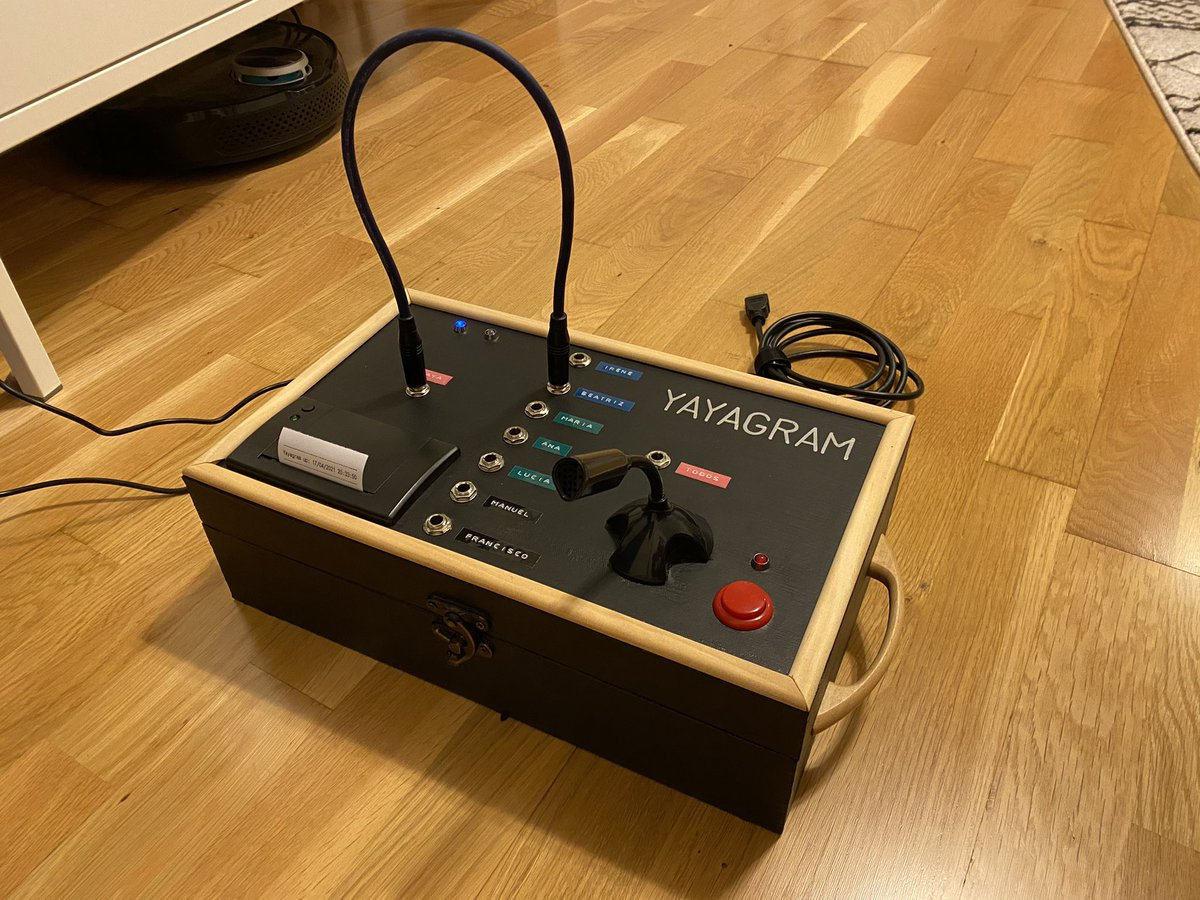"Ever heard of the #Yayagram? For this handy #drupaaroundyou innovation, @mrcatacroquer – self-proclaimed ""Inventive Grandson"" – used the Rasberry Pi mini computer, a microphone and ... a #thermoprinter! 🖨 Read more in his thread.  👇"