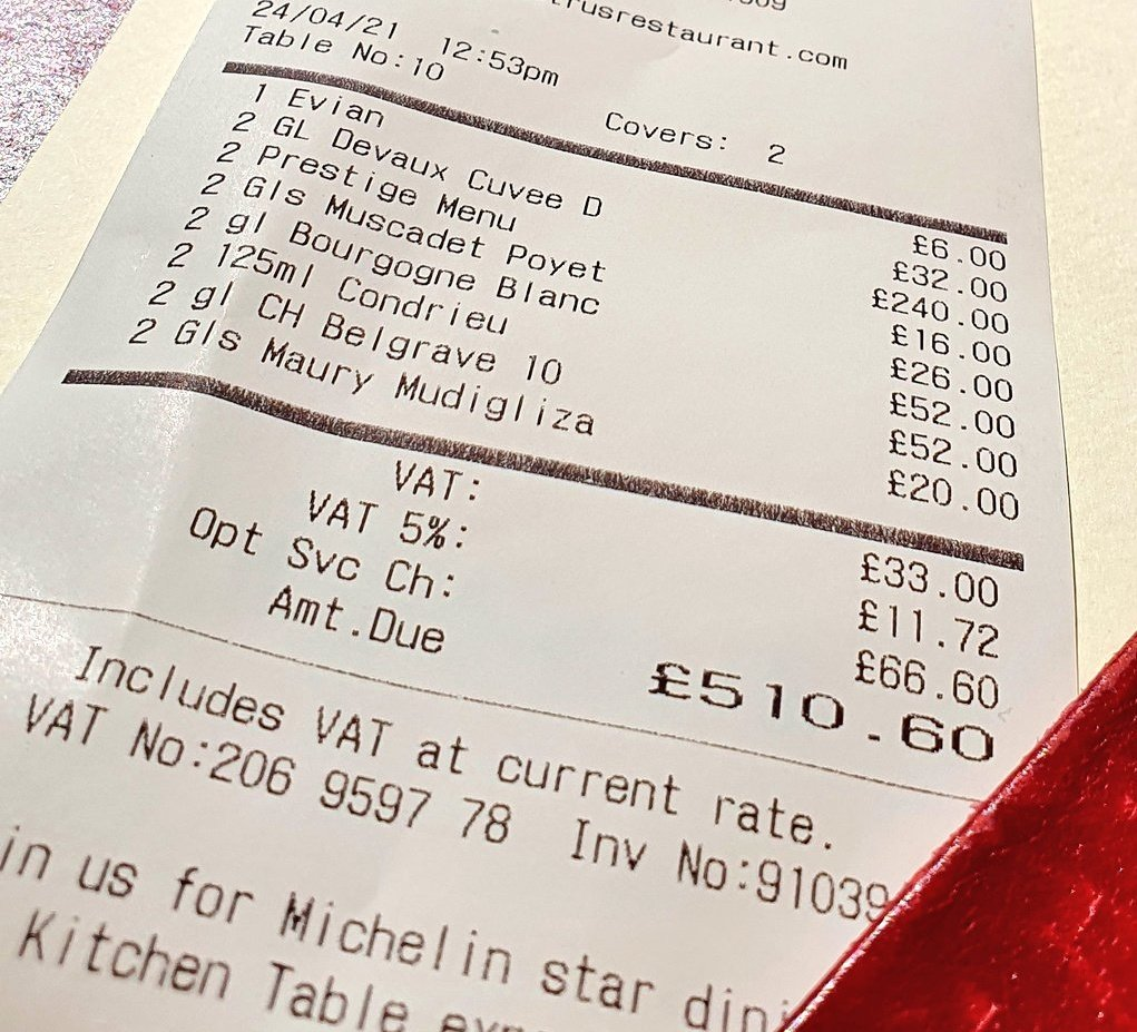 Silenttributemaster On Twitter I Went For An Awesone Michelin Star Meal Yesterday Each Line On That Bill Is More Than Entire Meals At Other Places But I Know My Good Boys Will