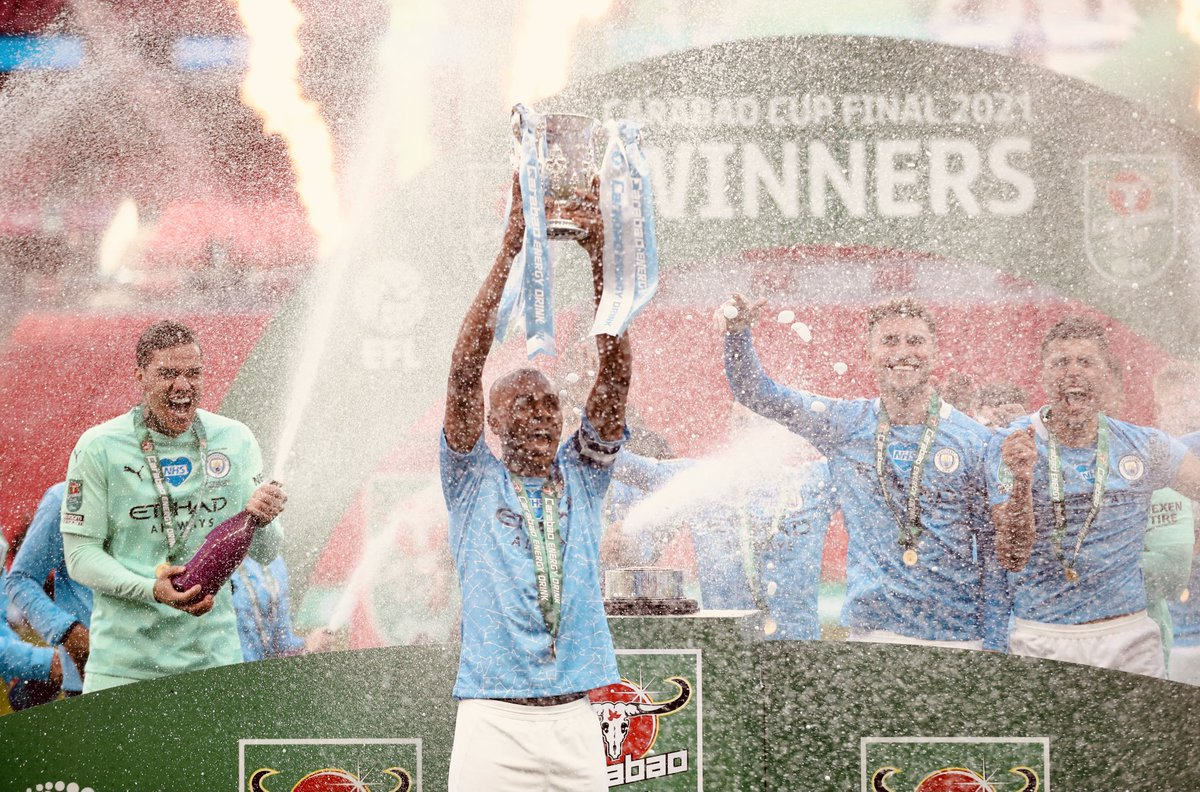 🏆 The feeling of lifting this trophy with the fans back in the stadium will be forever with me. Congratulations to the whole team for another great performance. 🙏🏾💪🏾 Let's keep pushing! CMON @ManCity https://t.co/t73PCh9j9p