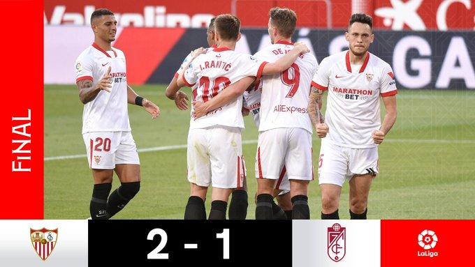 Skor akhir Sevilla 2-1 Granada