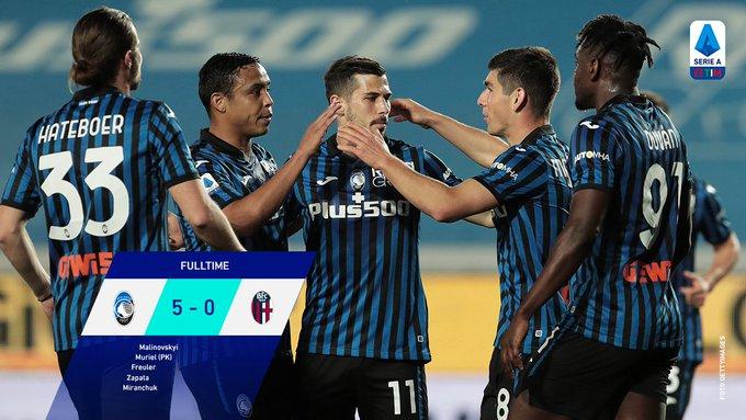 Skor akhir Atalanta 5-0 Bologna