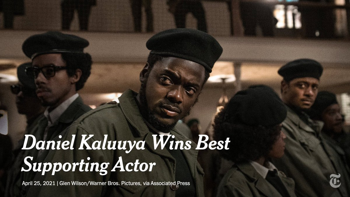 """Daniel Kaluuya won the Academy Award for best supporting actor for his nuanced portrayal of Fred Hampton in """"Judas and the Black Messiah."""""""