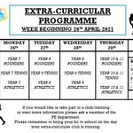 Image for the Tweet beginning: Check out this weeks extracurricular