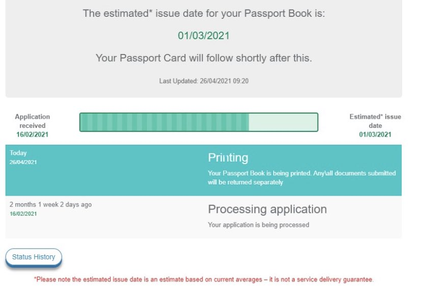 Estimated issue date for my passport renewal was March 1. Not going on hols but I'd like my ID back. Has it been explained why Revenue can operate a full service remotely at level 5, but the Passport Service can't? @nealerichmond @simoncoveney @dfatravelwise https://t.co/x2yHL7u8f5