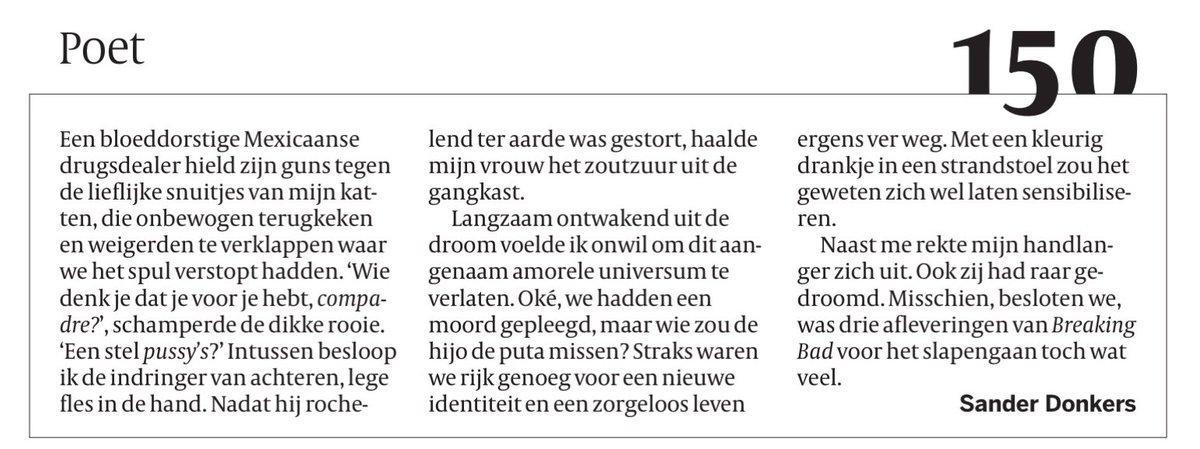 test Twitter Media - Sander Donkers in de Volkskrant van maandag 26 april 2021 https://t.co/MSGknEGxzt