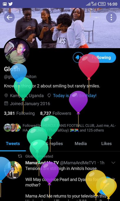 Happy birthday and let her follow back