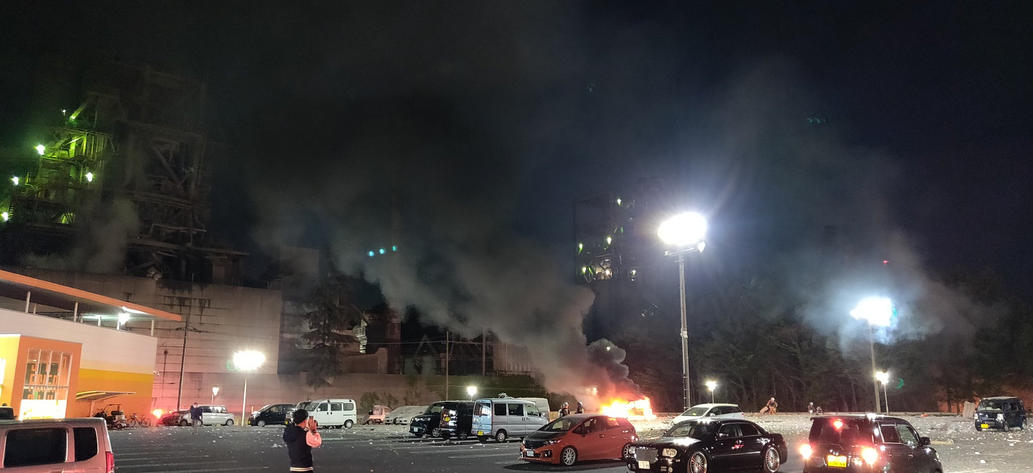 太平洋セメント埼玉工場付近の爆発事故現場の画像