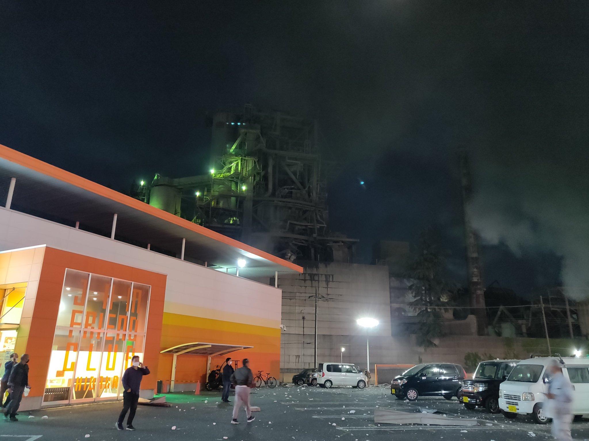爆発事故が発生した太平洋セメント埼玉工場の画像