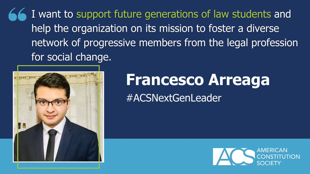 In 2007, ACS launched Next Generation Leaders: honoring emerging leaders in the legal field who have demonstrated special leadership in their work with ACS's student chapters. Meet just some of the amazing 2021 class here: https://t.co/2SrutJeoSR #ACSNextGenLeader https://t.co/px7kZ7FmfH