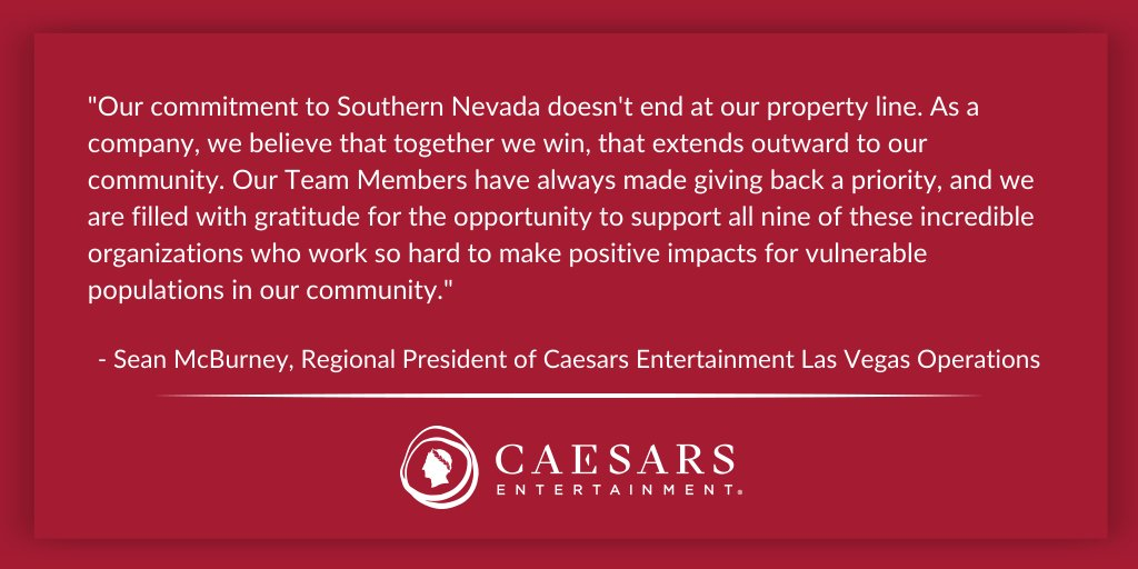 Whoop! Whoop!100,000 Thank YOUs to @CaesarsEnt for their incredible $100,000 donation to GTSF this morning!! This gift will go a long way in helping GTSF support underserved and vulnerable youth in the Las Vegas Valley at a time when our community needs it most!