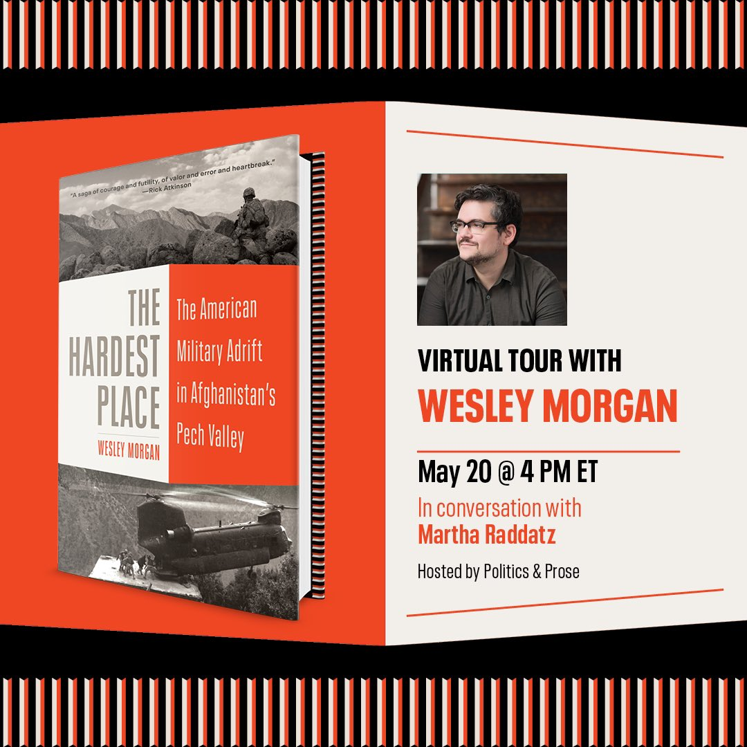 This is still a few weeks out, but I'm really excited to talk about THE HARDEST PLACE with @MarthaRaddatz on Thursday, May 20, via @PoliticsProse (in whose coffee shop I wrote a good chunk of the book). Here's the link to register: https://t.co/oC4Sle3SQh https://t.co/deYDl881sW