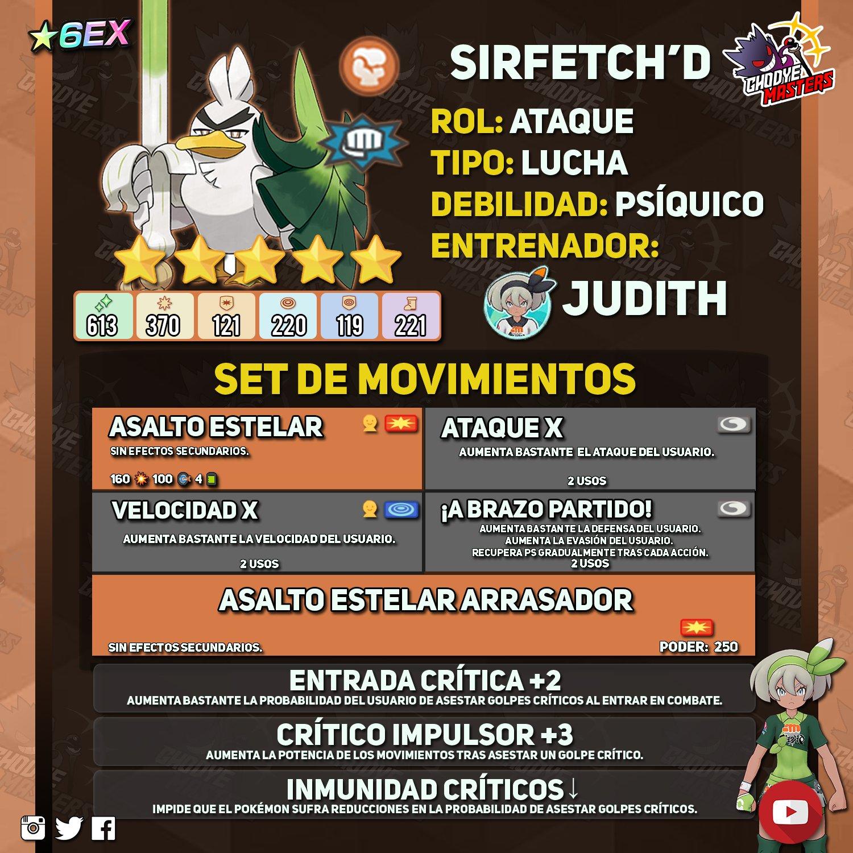 Judith Bea Sirfetchd Pokémon Masters EX