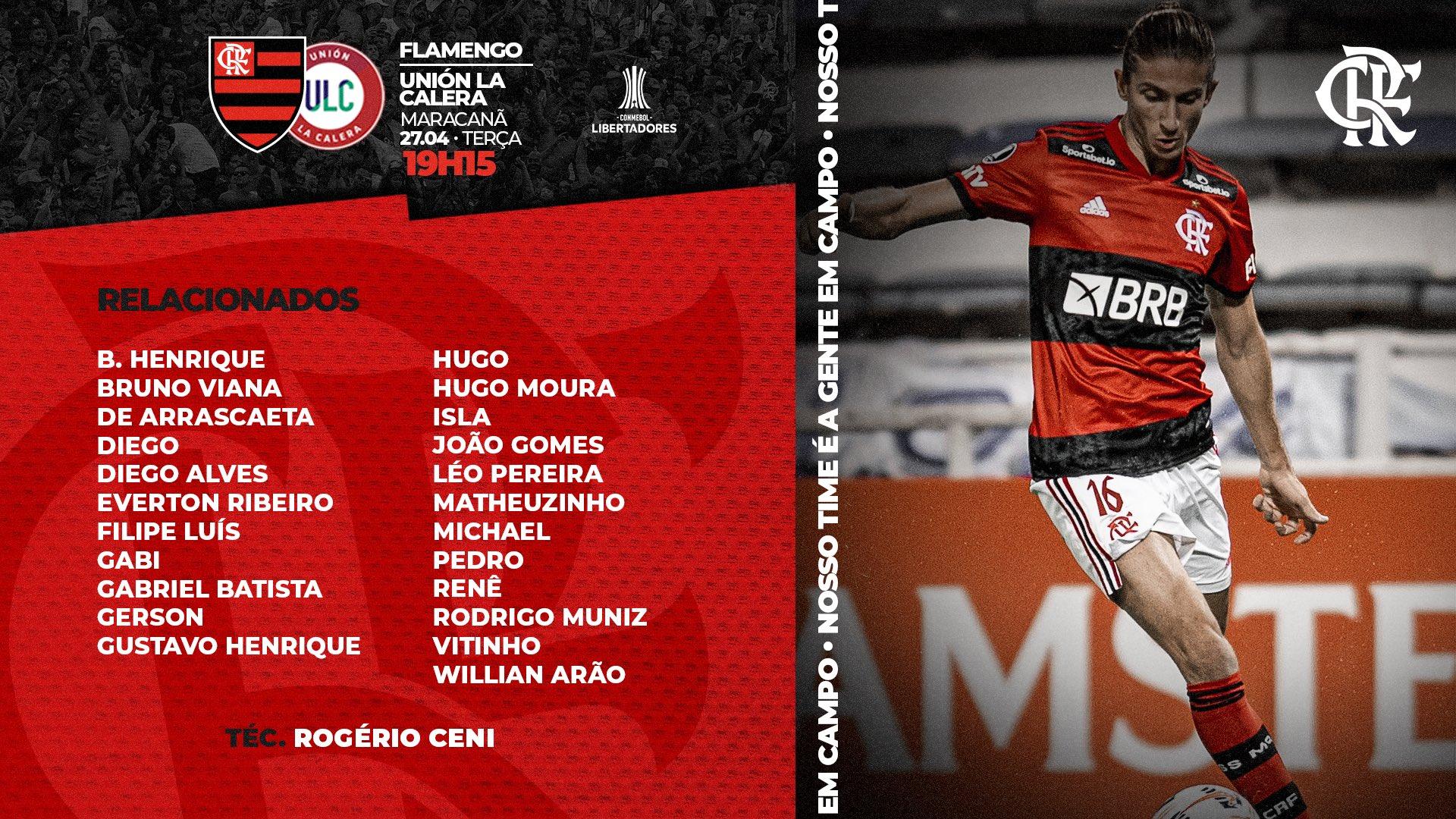 Flamengo x Unión La Calera relacionados