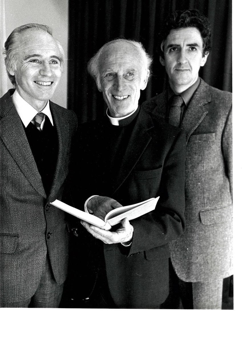 test Twitter Media - John T. Lewis was born on this day in 1932. From January 1975 Professor Lewis took over the Directorship of STP, DIAS - a position he would hold for 25 years. He's pictured 👇 with Lochlainn O'Raifeartaigh & Reverend Patrick Browne (Monsignor Pádraig de Brún) https://t.co/EMd72Qu273