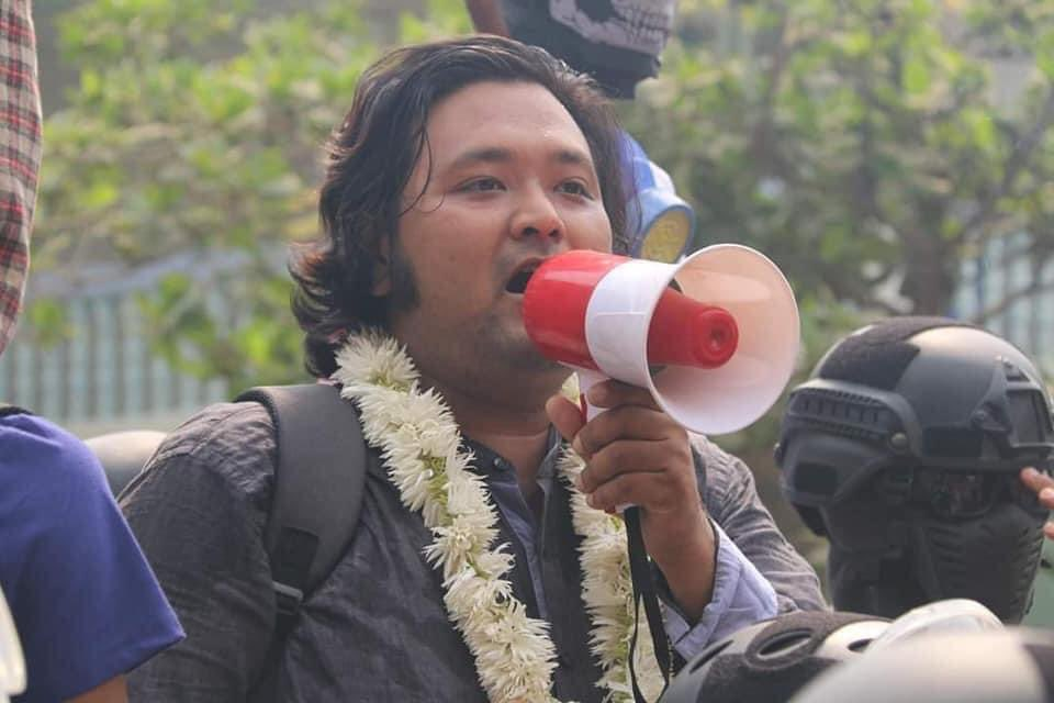 """Civil Disobedience Movement on Twitter: """"⚠️Breaking: Ko Wai Moe Naing, who is a high-profile leader organizing Monywa daily protests has been arrested by the military junta today. We appeal to international community"""