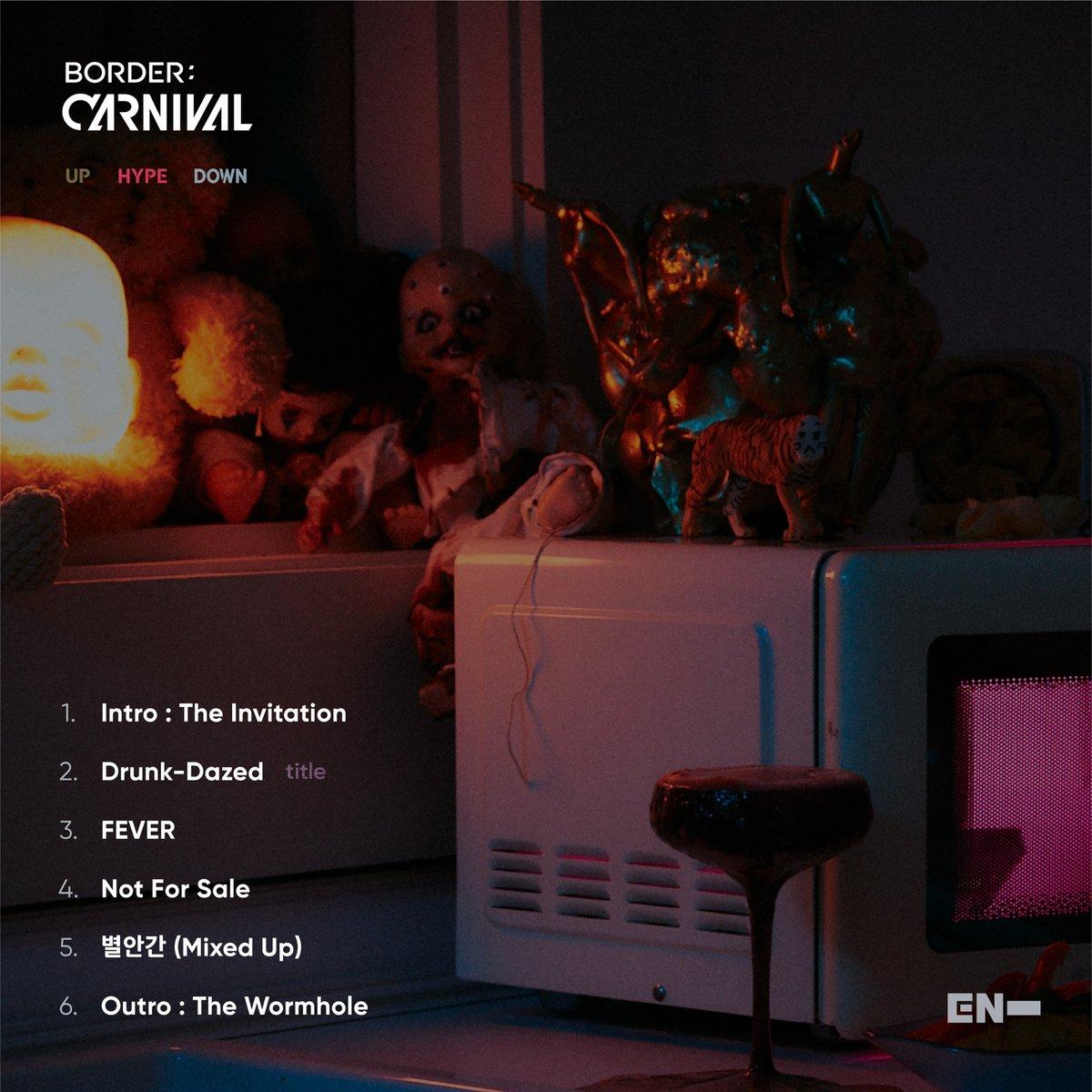 #ENHYPEN BORDER : CARNIVAL Tracklist #BORDER_CARNIVAL
