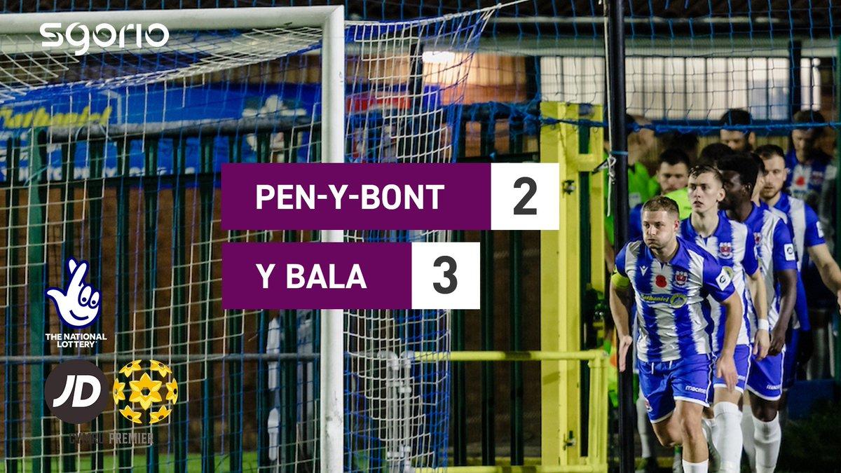 Image for the Tweet beginning: Uchafbwyntiau | Highlights  @PenybontFC_ 2-3 @BalaTownFC