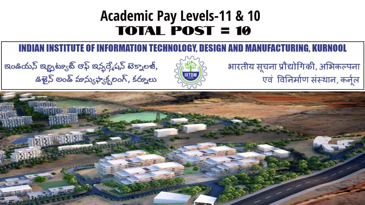 Faculty Recruitment (On Contract/Regular) 2021 in IIIT Kurnool, India