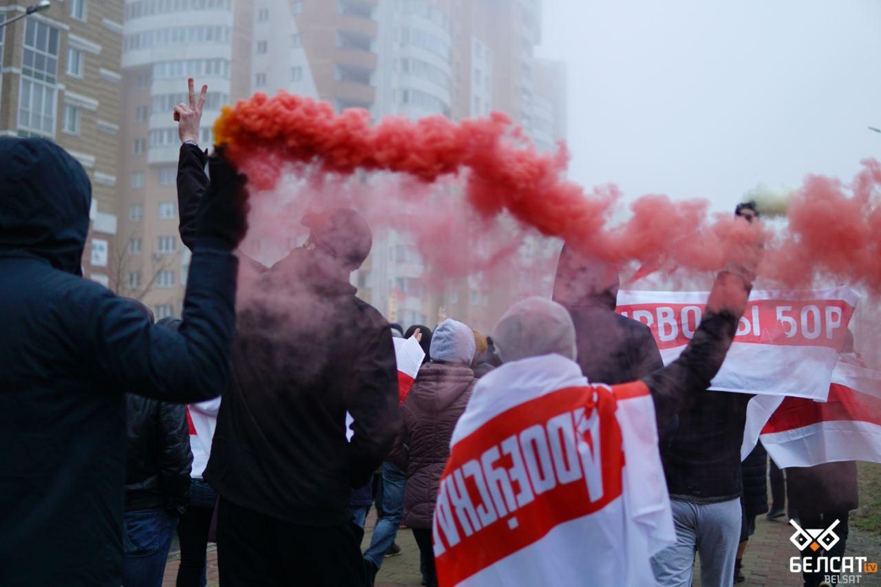Die Weißrussen setzen unermüdlich ihren friedlichen Kampf für Demokratie und Freiheit fort.