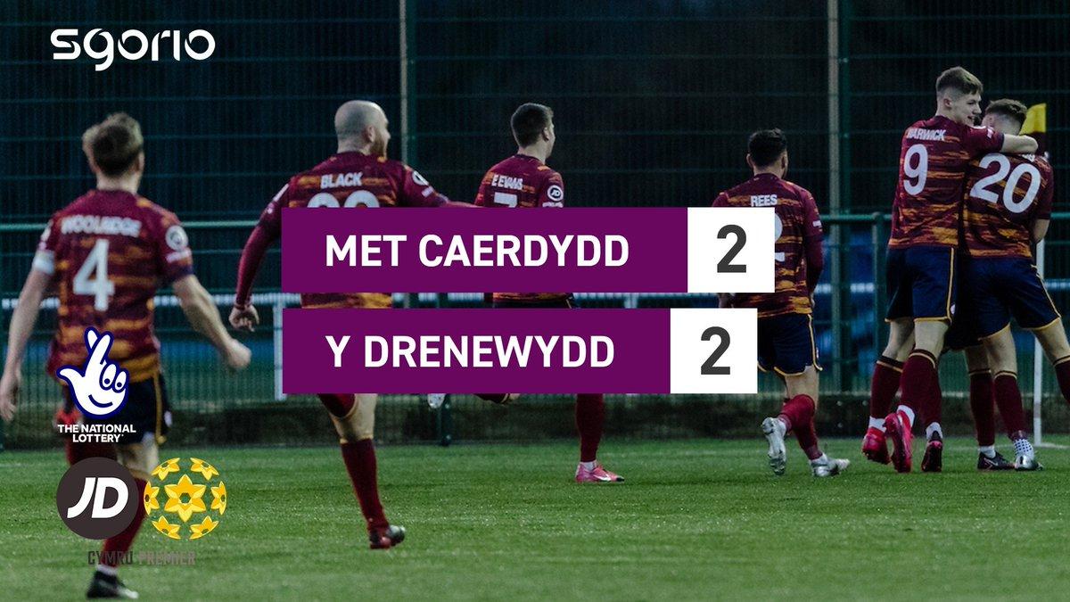 Image for the Tweet beginning: Uchafbwyntiau | Highlights  @CardiffMetFC 2-2 @NewtownAFC