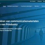 Image for the Tweet beginning: Nieuwe website voor Prindustry💙 -