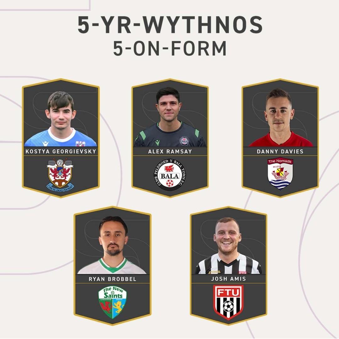 Image for the Tweet beginning: 5-yr-Wythnos | 5-on-Form 🔥  Alex Ramsay