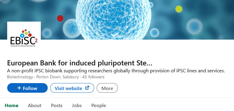 Follow @EBiSC_cells, the not-for-profit iPSC bank which provides researchers with access to high quality tools for #medicinesdevelopment via LinkedIn! We are a proud partner of this @IMI_JU project and support with the #projectmanagement, communication & dissemination activities.