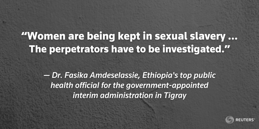 Reports of brutal rapes have circulated for months in Ethiopia's Tigray region. For the first time, an Ethiopian government official made a 'sexual slavery' accusation after hundreds of women reported they suffered horrific sexual violence https://t.co/4cSMJ1PWIA https://t.co/SZbZRwkHJ7