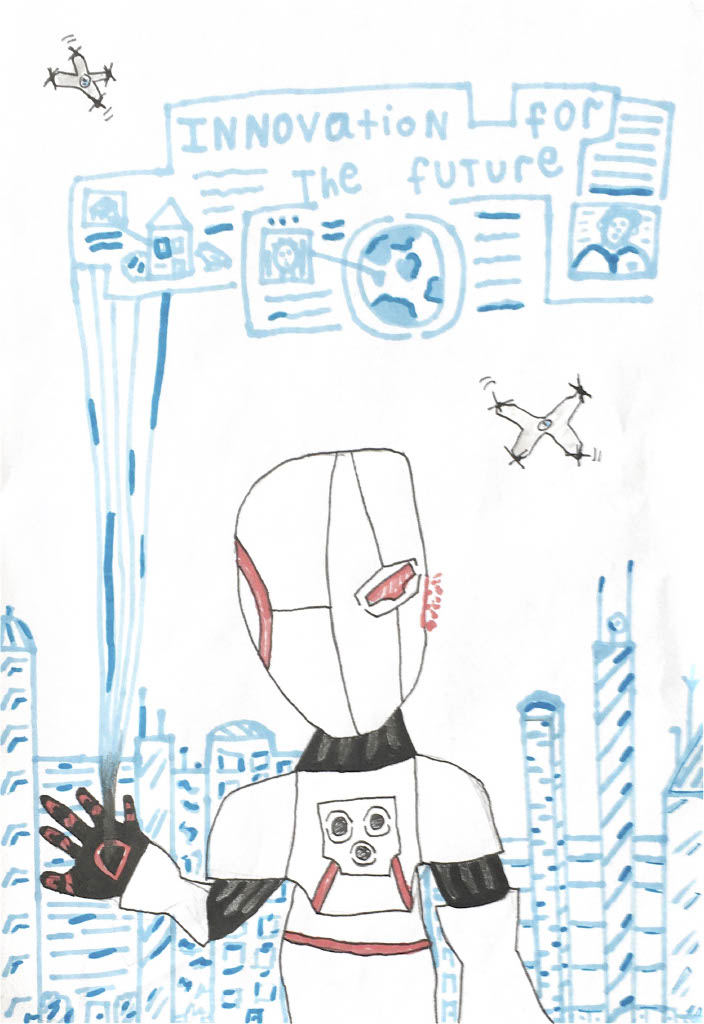 As part of @ScienceWeekUk, we invited Key Stage 3 students to produce a poster on the theme of 'Innovating for the future'. We were delighted that all four of our secondary schools provided entries which ranged from the dystopian to the life-affirming.   https://t.co/fAco4C8a1G https://t.co/pswvMTC2qb