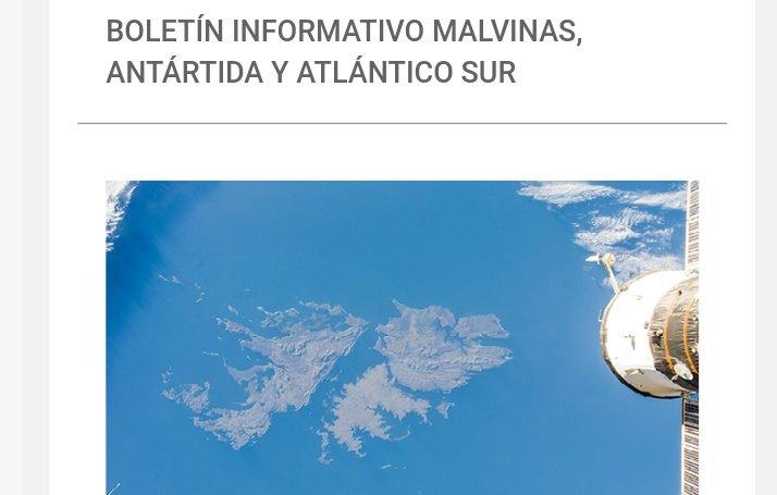 Comparto la edición de abril del Boletín Informativo Malvinas, Antártida y Atlántico Sur ➡️  https://t.co/rROJVcVZda Es un espacio que recoge el trabajo realizado por la @CancilleriaARG a nivel nacional, bilateral y en los organismos multilaterales en los que participa 🇦🇷