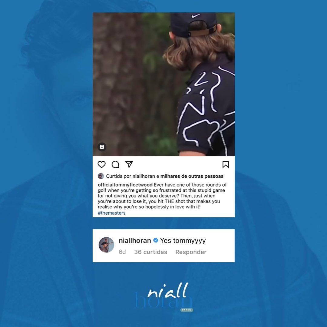 """RT @nhbrazil: Niall curtiu e comentou a publicação de Tommy Fleetwood no Instagram alguns dias atrás: """"sim tommyyyy"""" https://t.co/Edhht0pMxu"""