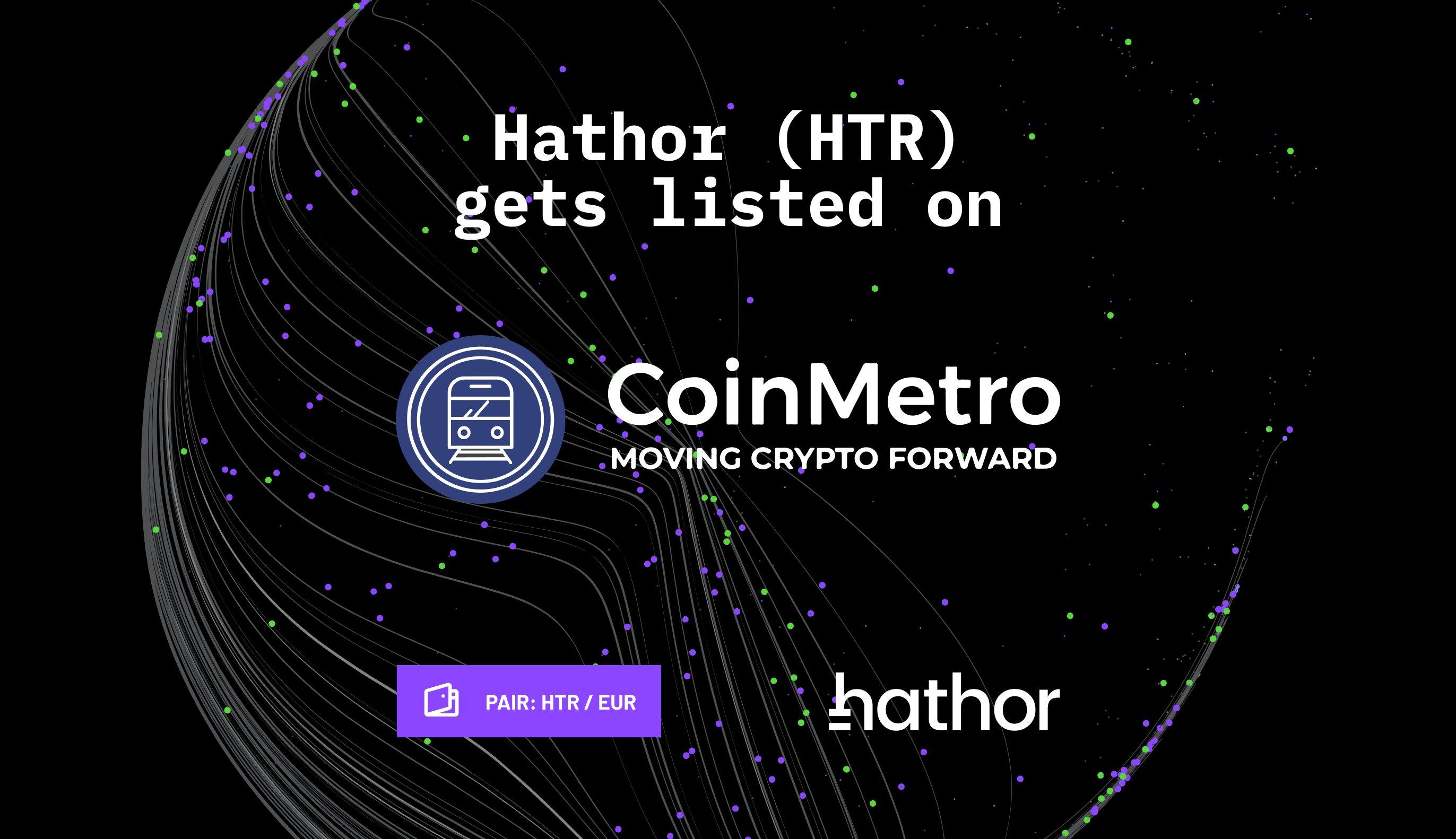 Hathor Network's HTR is listed on CoinMetro