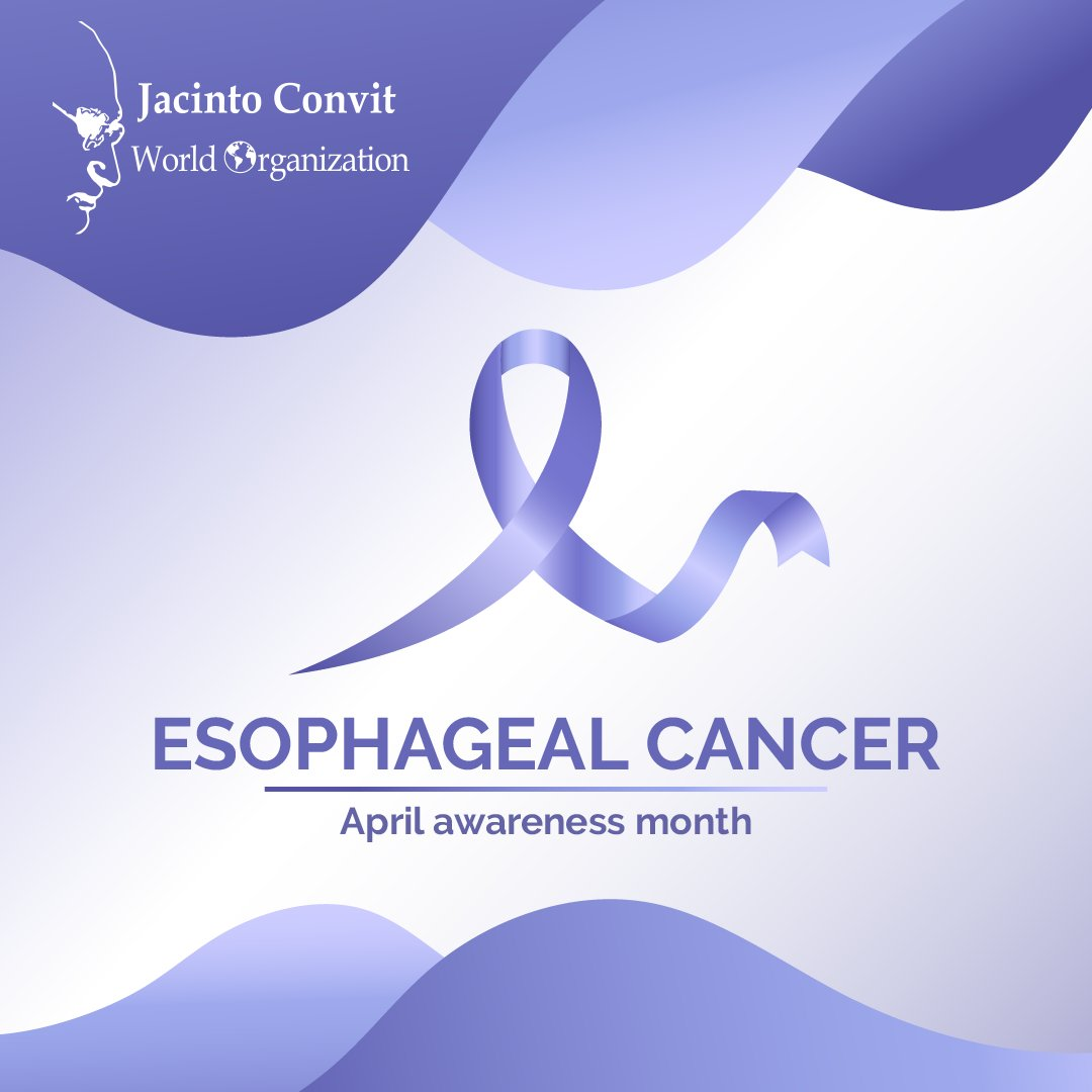 April is #EsophagealCancerAwarenessMonth. Learn more about the signs and symptoms to watch out for the prevention of this disease.  Go to https://t.co/qc8RZ9U8Ig @AACR  #CancerRisk  #Health #Awareness https://t.co/N7Md0HEXpF