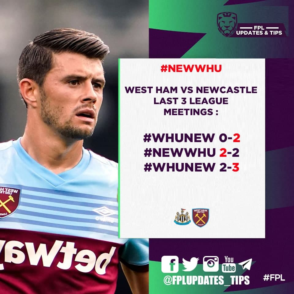 West Ham Last 3 League Matches : #WHULEI 3-2 #WOLWHU 2-3 #WHUARS 3-3 Goals Scored : 9 Goals Conceded : 7  West Ham vs Newcastle Last 3 League Meetings : #WHUNEW 0-2 #NEWWHU 2-2 #WHUNEW 2-3 3/3 : 2+ goals conceded for West Ham  What are you doing with your West Ham defenders ? https://t.co/mw7kDwGpdi