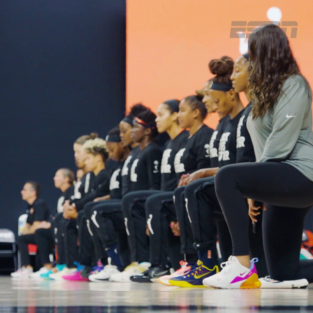 """We will be a voice for the voiceless.""  Our latest film, ""144"", is the story of what unfolded on and off the court during a @WNBA season dedicated to social justice.  Executive Produced by @Chiney. https://t.co/zzMRkbDRrq"