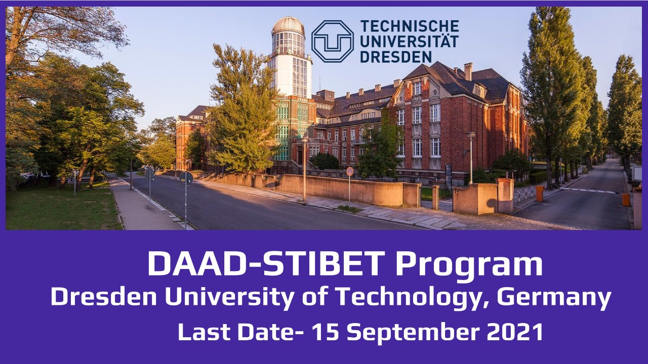 DAAD-STIBET Program by Dresden University of Technology, Germany
