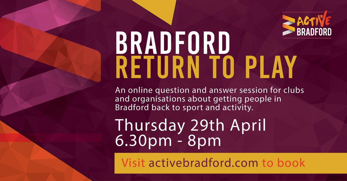 In two weeks time, we'll be hosting an online question and answer session with any of your queries or concerns about the #returntoplay   Book to join us and our panel members, plus to submit your questions. https://t.co/mGmItCWWCZ