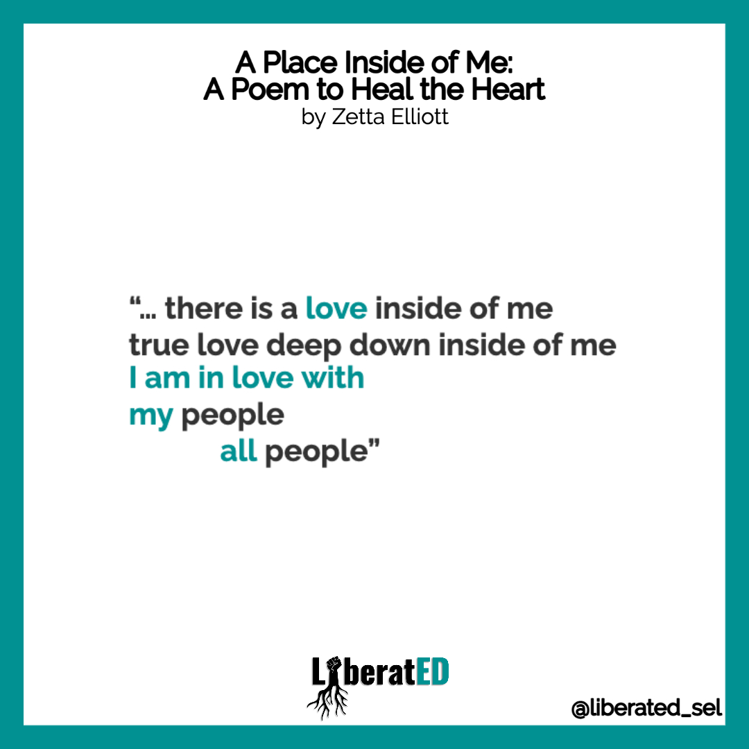 As we make space for grief, here is a poem to heal the heart from the amazing @zettaelliott and a @LiberatED_SEL reflection. #GetLiberatED #LiberatEDSEL #CollectiveLiberation. https://t.co/gFbxTSxqp7