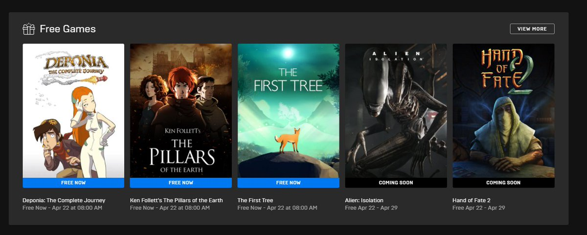 """Wario64 on Twitter: """"Alien Isolation and Hand of Fate 2 are the next free Epic  Games Store titles… """""""