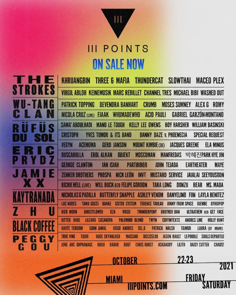 III Points lineup 2021
