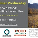 Image for the Tweet beginning: Wood Preservation Canada is sponsoring